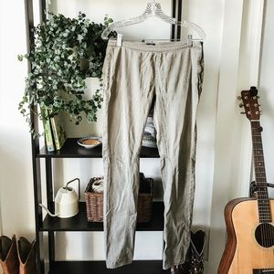 H&M Army green skinny jeans